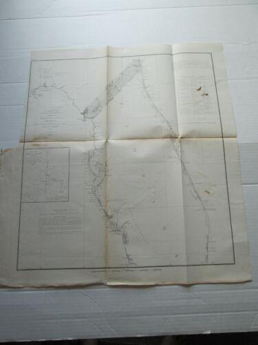 ONE (1) 1857 COAST SURVEY,  SKETCH-F, NO. VI, COAST OF FLORIDA