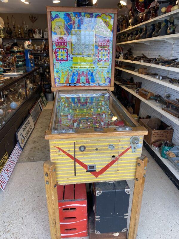 Vintage Big Time Bally Pinball Bingo Machine