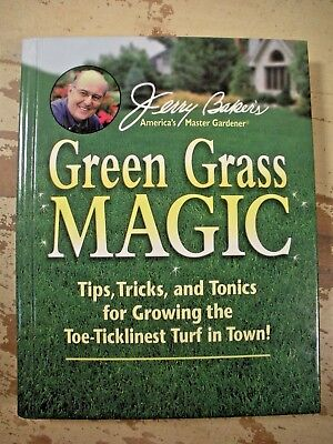 Lawn Care Tips - JERRY BAKER'S GREEN GRASS MAGIC Tips Tricks Tonics Lawn Care  HC VG Clean