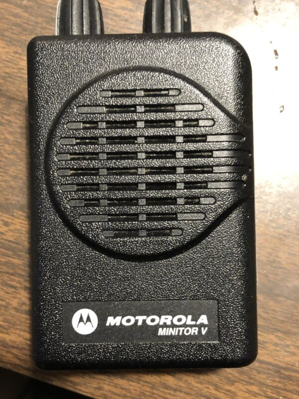 Motorola Minitor V (5) 2-Channel Stored Voice UHF Pager 453-461.9875 MHz