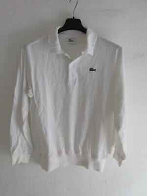 Polo lacoste devanlay blanc coton shirt jersey manches longues 3