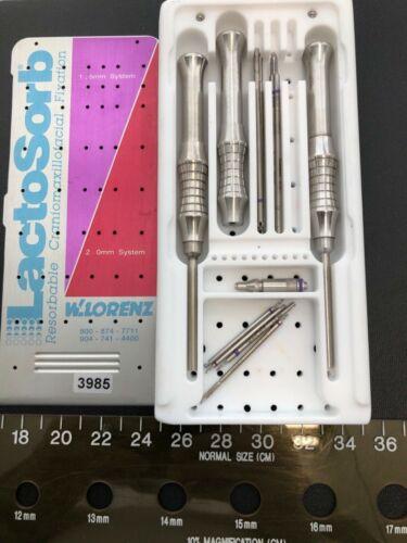 W. Lorenz LactoSorb Facial Fracture Repair Surgical Tool Lot 3985