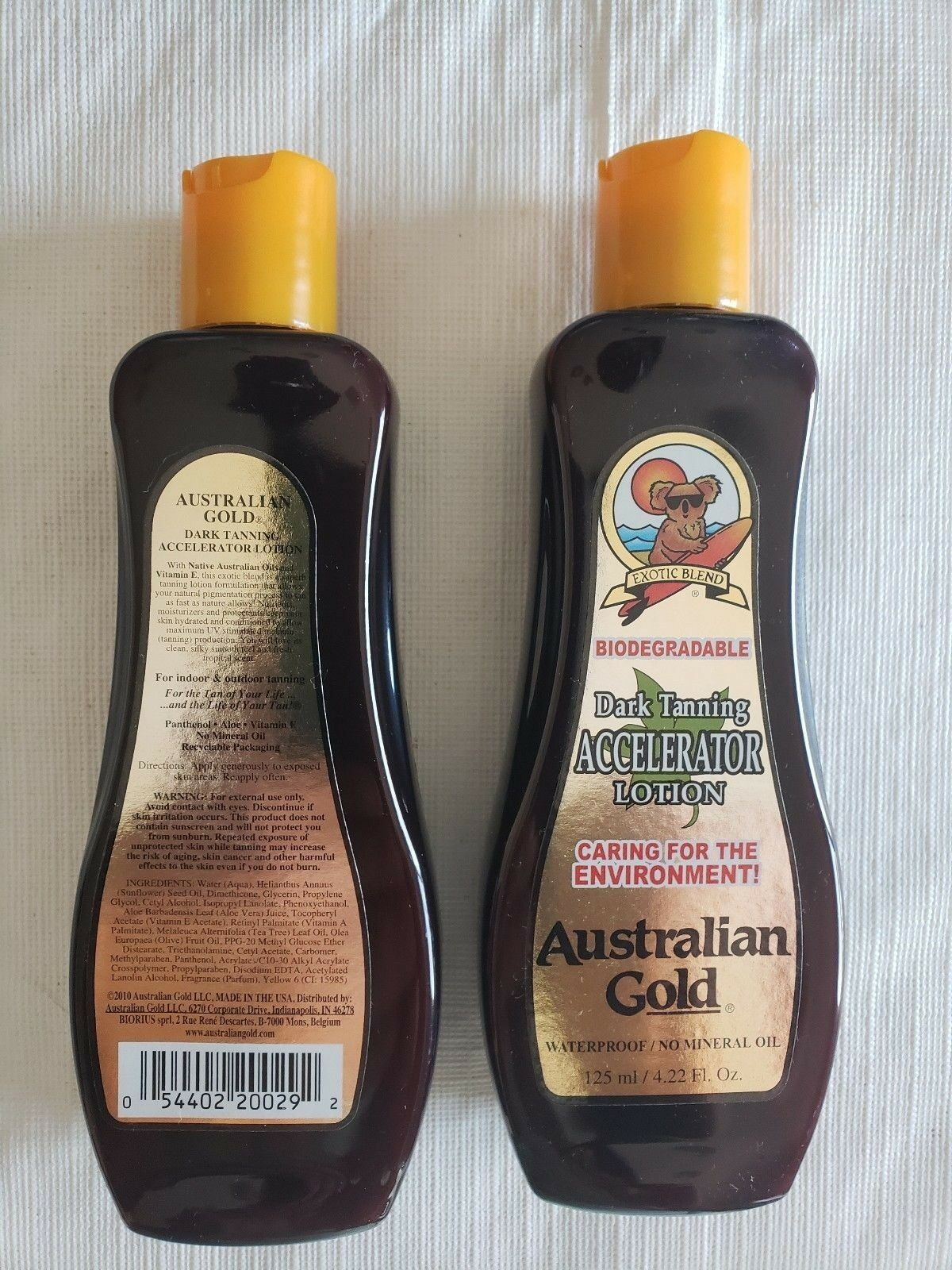 Pair of Australian Gold Dark Tanning Lotion Accelerator Bron