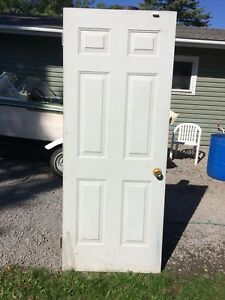"32"" x 79"" WhIte Steel Door"