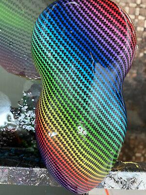 Rainbow Carbon Fiber Water Transfer Dip Us Hydrographic Hydro Film 0.5x2m Multi