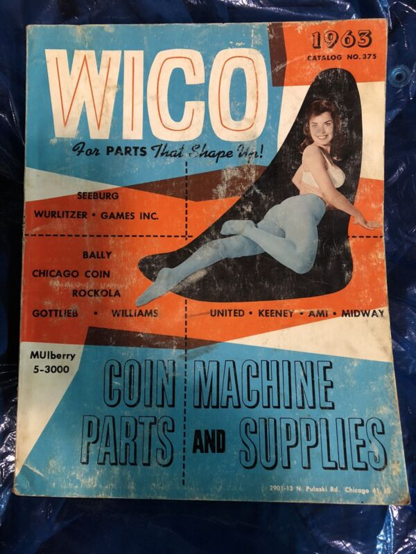 Wico 1963 Coin Machine Parts And Supplies Catalog