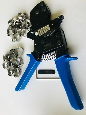 Pex Ratchet Cinch Clamp Crimper Tool 38-1 With 30 Pcs Ss Clamps
