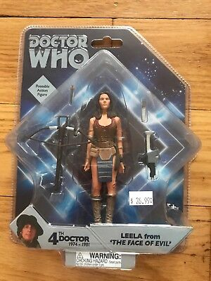The 4th Doctor (Doctor Who Leela from The Face of Evil (1977) 4th Doctor Action Figure RARE)