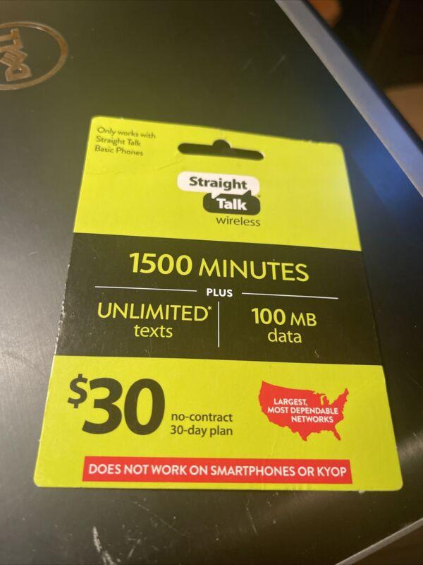 Straight Talk Rob Refill Prepaid 45 Dollar Card - 30 Day