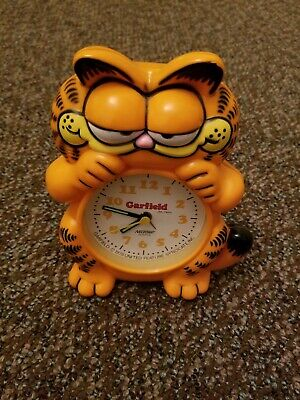 Vintage Plastic Garfield Clock Nelsonic Untested 1978 Cat As Is