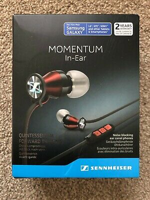 Sennheiser Momentum 2.0 In-Ear Headphones (Android) - Red/Black [New Good...