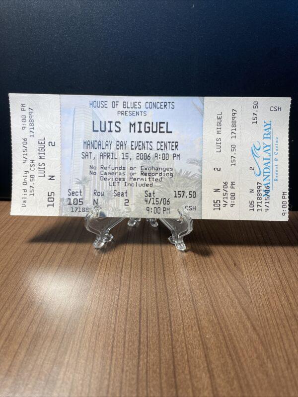 Luis Miguel Concert Ticket Unused Vintage April 15 2006 Las Vegas