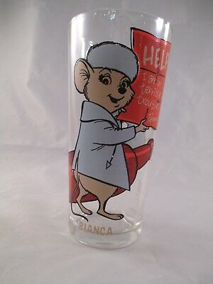 Disney's Rescuers ~ Bianca ~ 1977 Pepsi Brockway Glass