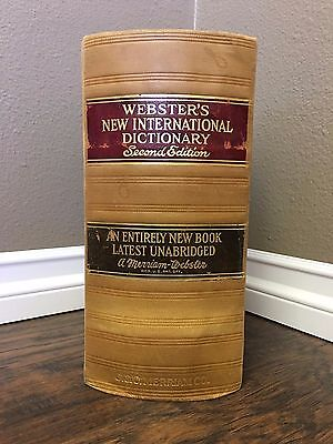 1938 Websters New International Dictionary Second Edition Mint Condition