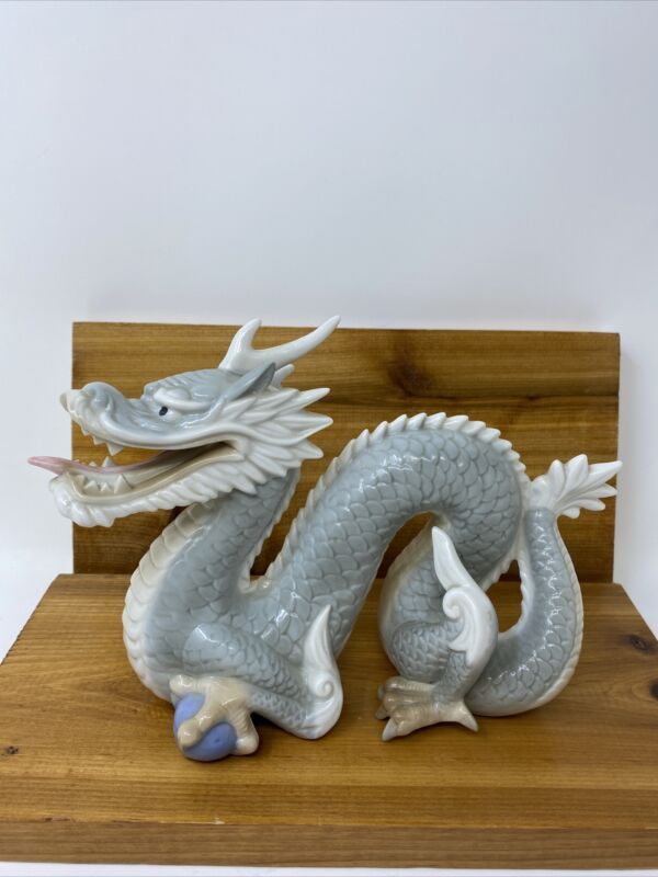 Japanese Porcelain Dragon Hand-painted Yoshimi Made in Japan