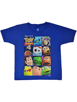 Boys Toddler Toy Story 4 Woody Buzz Forky Rex Hamm T-Shirt Blue - Toy Story Toddler
