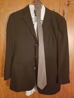 JOS A BANKS MEN'S 3 BUTTON 2 PIECE SUIT  42 LONG BLACK , SHIRT & TIE  $19.99 - Wholesale Suits Men