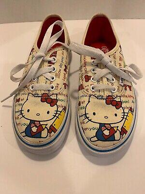 Hello Kitty Vans Kids Size 13.5 Sneakers (Childrens Hello Kitty Vans)