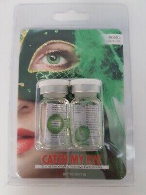 Aricona Farblinsen deckend grüne farbige Kontaktlinsen bunt farbig grün EA1 (Bunte Kontaktlinsen)