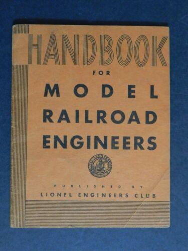 "Scarce 1932 Lionel ""Handbook for Model Railroad Engineers"" 32pg VGC"