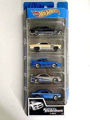 Hot Wheels 2020 5 Pack Fast & Furious Camaro/Skyline/Mustang/911/Monte Carlo New