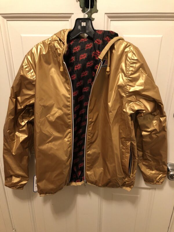 DAFT PUNK Gold K-way Jacket Maxfield Los Angles Grammy Pop Up Store Reversible