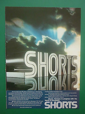 Used, 11/1986 PUB SHORTS BROTHERS AEROSPACE TECHNOLOGIES TUCANO C23 SHERPA ORIGINAL AD for sale  Shipping to Canada