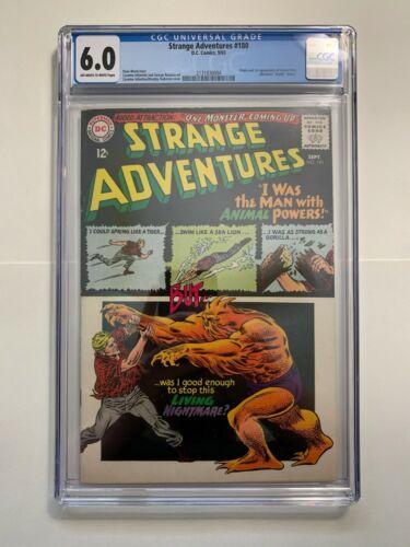 STRANGE ADVENTURES #180 (DC 1965)  CGC 6.0  1st App of ANIMAL MAN! New Slab