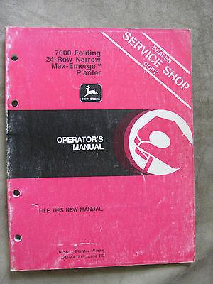 John Deere 7000 Folding 24 Row Narrow Planter Operators Manual