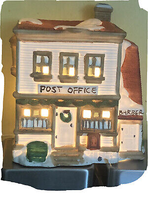 Vintage Dickensvile Collectibles Nova porcelain Lighted Post office 1991. RARE