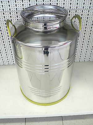 Kanne, Behälter, Fass aus Edelstahl, V2A, 50 Liter
