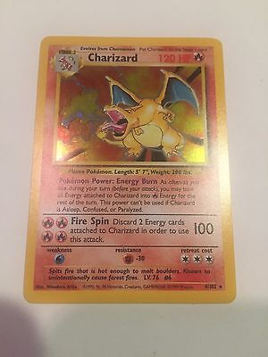 Pokemon Base Set Holo Charizard 4/102 TCG Card NM/Mint