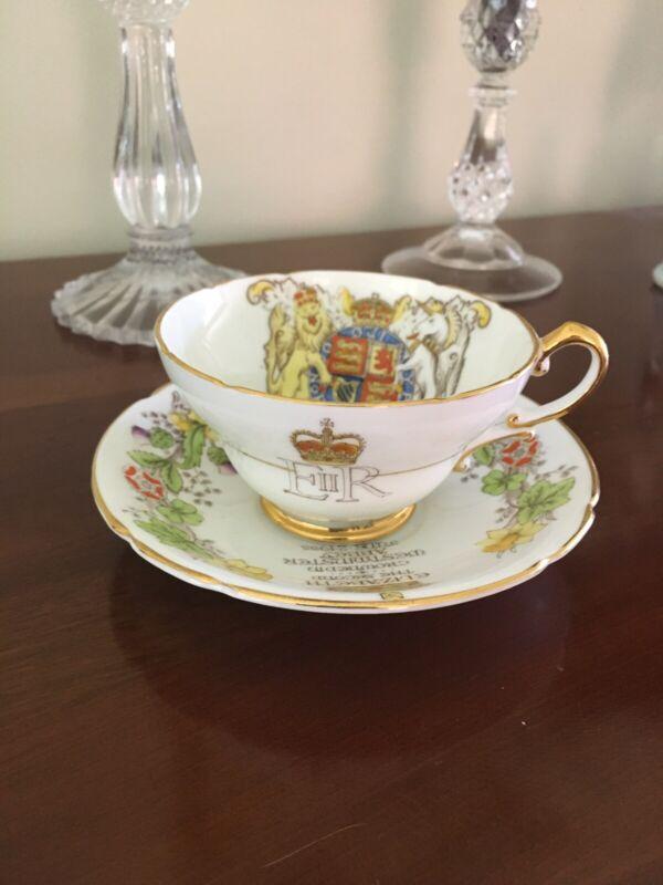 Queen Elizabeth II Coronation Teacup/Saucer 1953