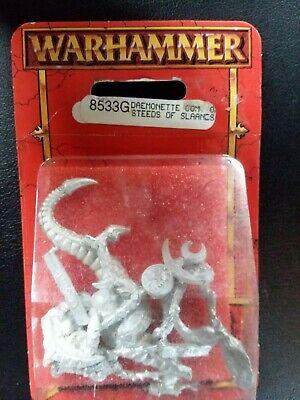 Daemonette Commander on Steed of Slaanesh Warhammer Fantasy Blister 8533G OOP for sale  Rutland