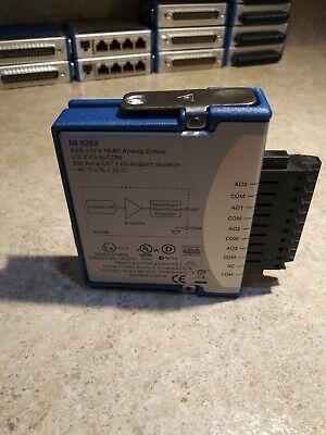 National Instruments Ni 9263 Cdaq -10v Simultaneous Analog Output Tested