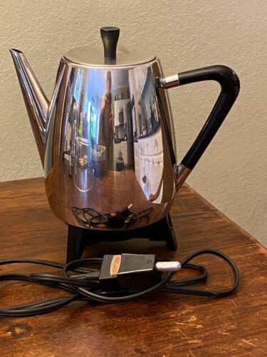 WEST BEND Vtg Mid Century Modern 5-10 Cup Coffee Percolator maker - EUC