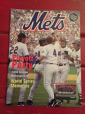 1999 METS Season Retrospective World Series Memories Scorebook + Program LOOK!