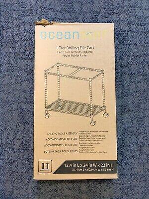 Oceanstar Portable Metal Rolling File Cart