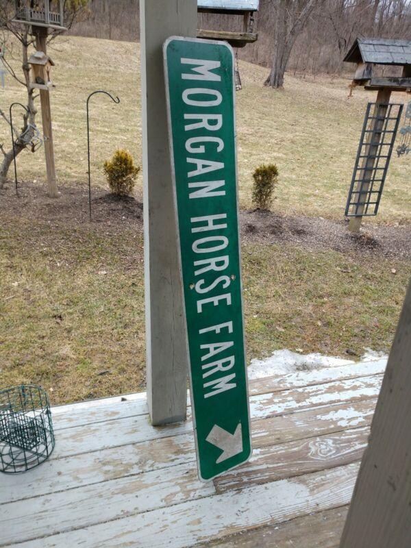 Metal Morgan Horse Farm Green Metal Sign