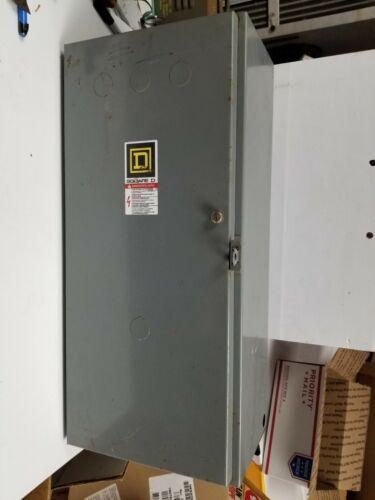 Lighting contactor, Square D 100AMP, 110/120 VAC coil, enclosure incl