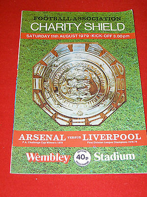 Arsenal v Liverpool Charity Shield Aug 11th 1979