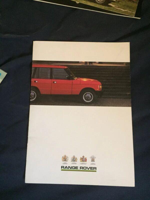 1988 Range Rover USA Market Color Brochure Catalog Prospekt