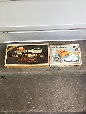 Vintage Moulinex Vegetable Slicer and Grater w/ Hamilton Beach Electric Knife