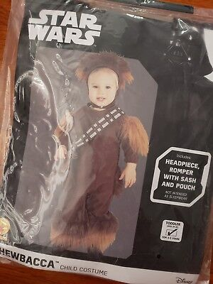 NWT Toddler Kid Star Wars Chewbacca Costume 2-3 years size 2T-3T - Toddler Chewbacca Costume