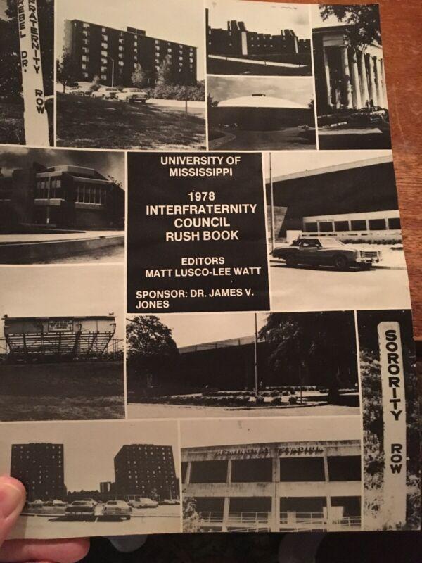 1978  OLE MISS IFC Rush Book UNIVERSITY OF MISSISSIPPI
