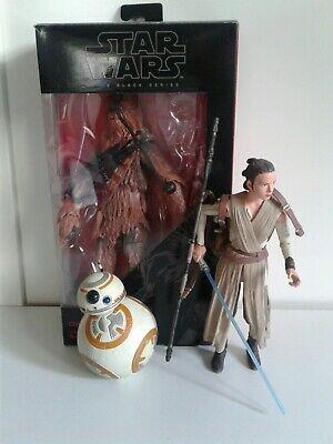 Star wars black series & elite Chewbacca Rey BB8 figures