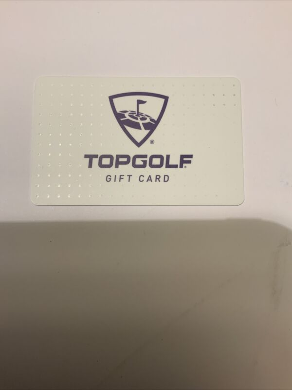 Top Golf $50 Physical Gift Card
