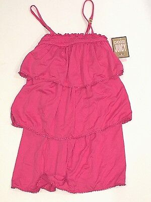 New Little Girls JUICY COUTURE triple layer ruffled cover up dress Small 4 - 6