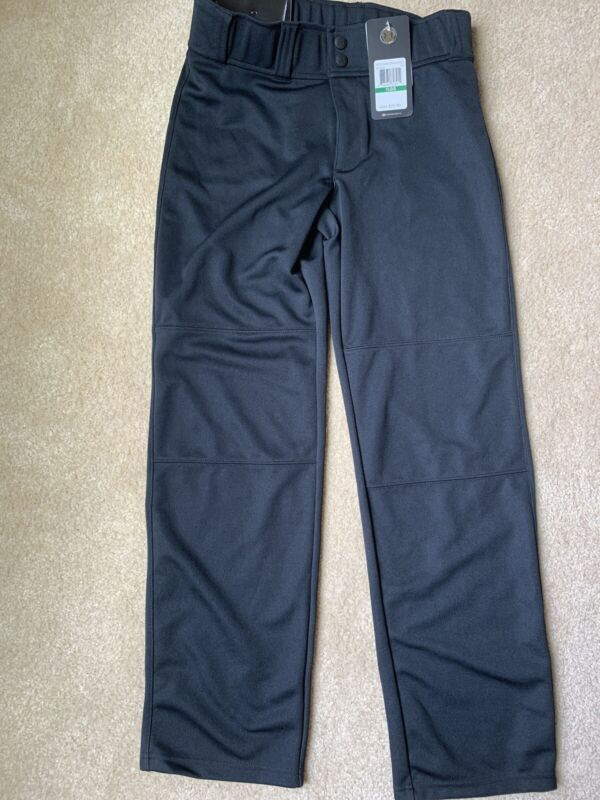 UA Under Armour Boys Youth Large Relaxed Fit Baseball Pant Black- NEW