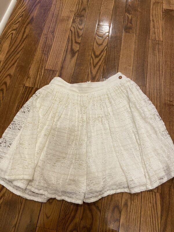 Matilda Jane 435 Girls White Lace Skirt Elastic Waistband Size 12